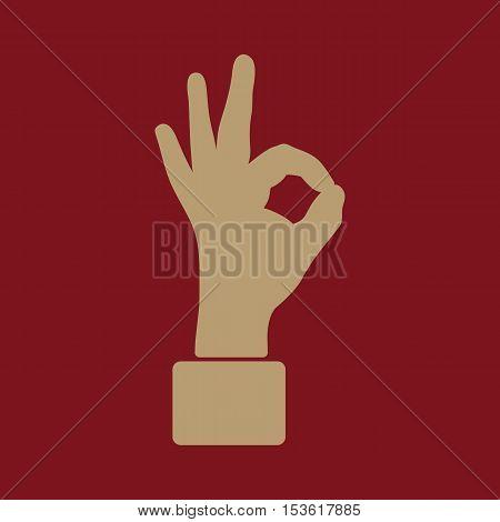 The OK icon. Okay symbol. Flat Vector illustration