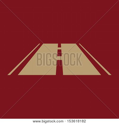 The road icon. Highway symbol. Flat Vector illustration