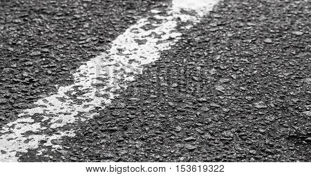 White Dividing Line On Tarmac, Highway