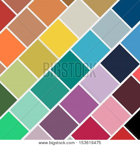 Vintage geometric background, colorful squares in sequence