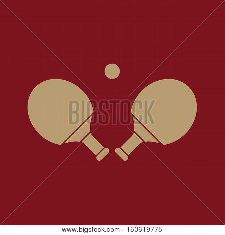 The Table tennis icon. Ping pong symbol. Flat Vector illustration