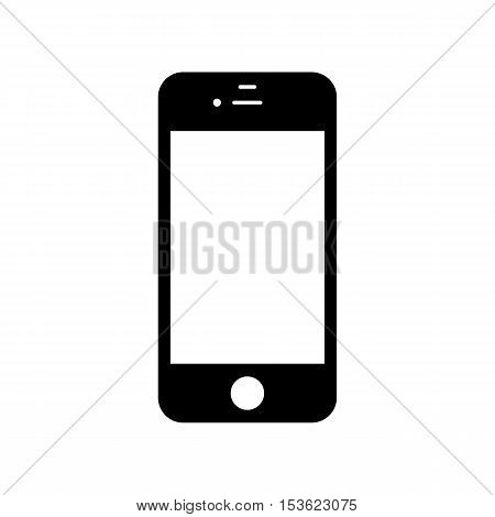 smartphone icon flat style black color isolated on white background. stock vector illustration eps10