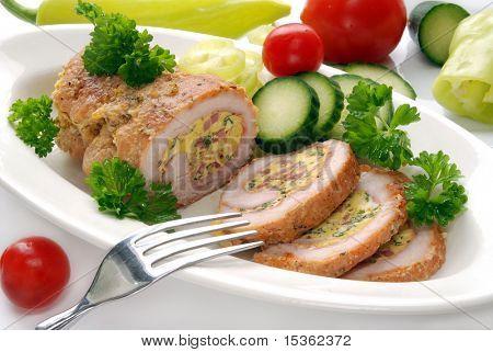 Stuffed turkey meat