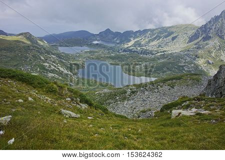 Clouds over The Twin, The Trefoil, the Fish Lakes, The Seven Rila Lakes, Bulgaria