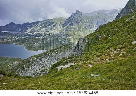Clouds over The Twin and The Trefoil Lakes, The Seven Rila Lakes, Bulgaria