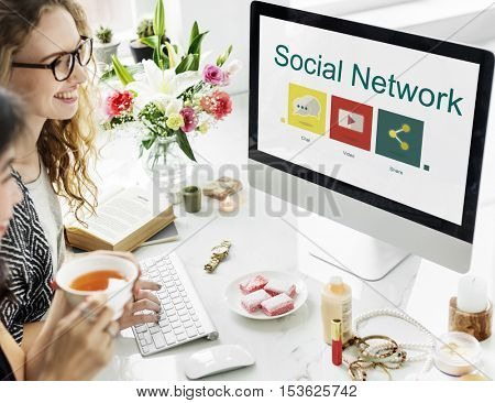Social Network Connection Internet Concept