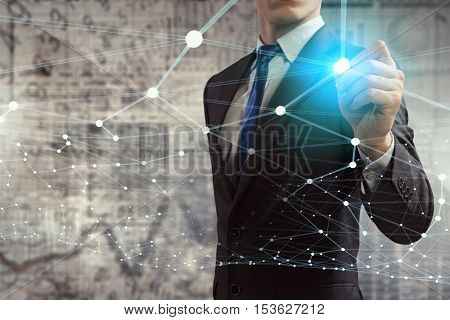 Social connection concept . Mixed media