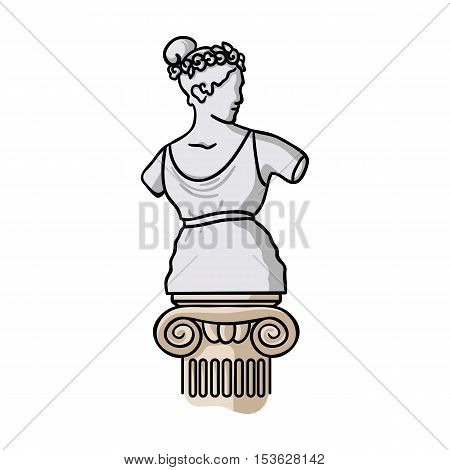 Statue icon in cartoon style isolated on white background. Museum symbol vector illustration.
