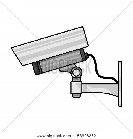 Security camera icon in cartoon style isolated on white background. Museum symbol vector illustration.