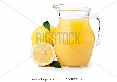 Fresh Yellow Lemons And Juice