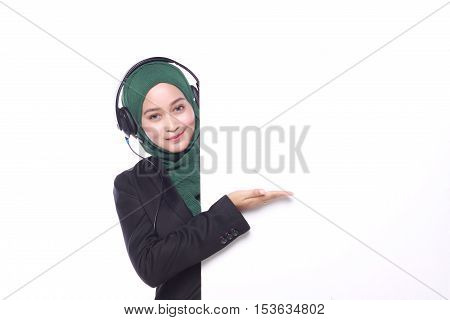 Young Muslim Women Isolated On White Background