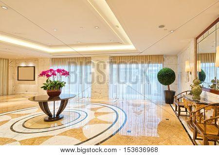 decoration and design of modern entrance