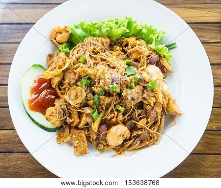 Asian flavor, Malaysian and Indonesian Stir Fried Noodle known as