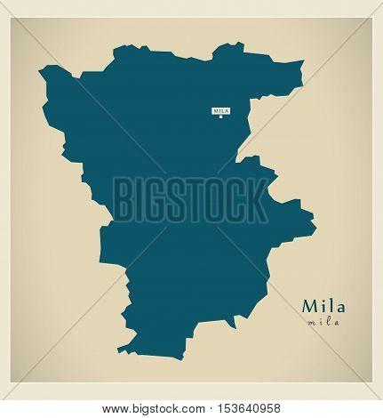Modern Map - Mila DZ Algeria vector