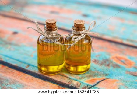 Two Olive Oil In Small Bottles