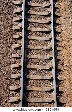 Eisenbahnstrecken. Ansicht von oben.