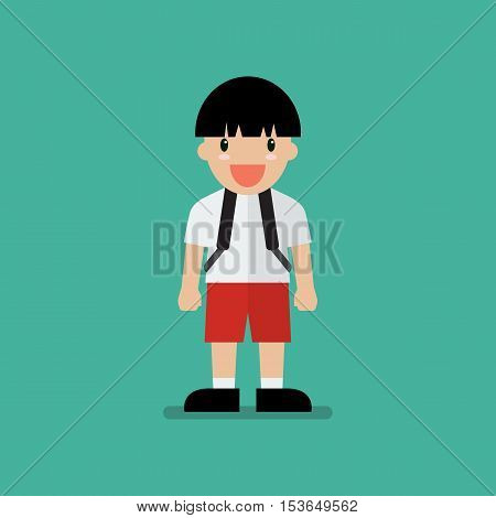 Cute cartoon boy. Flat style design cartoon