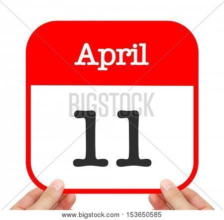 April 11 written on a calendar