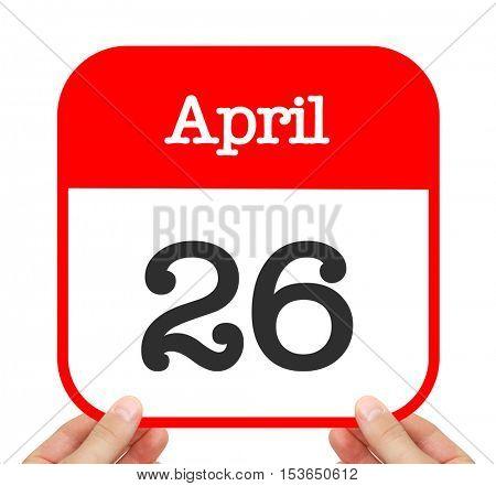April 26 written on a calendar