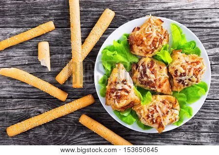 Chicken Breast Stuffed With Ham, Cheese, Tomatoes