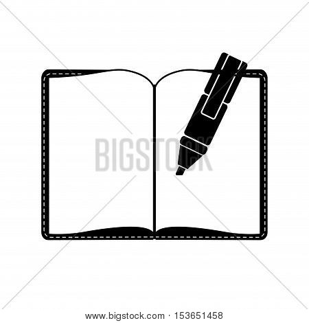 blank notepad and highlighter icon image vector illustration design
