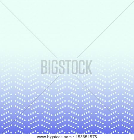 Geometric modern vector pattern. Fine blue ornament with white dotted elements
