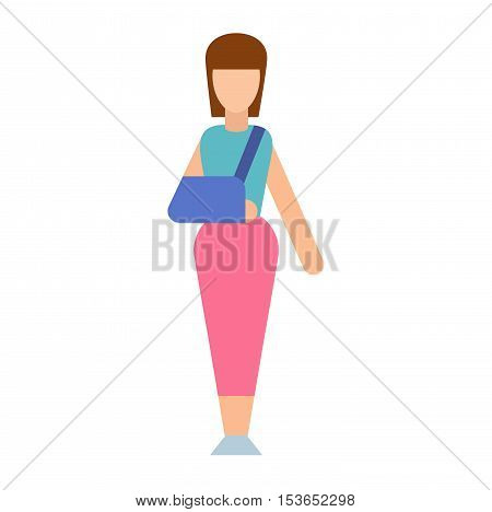 Trauma accident fracture human body safety vector people silhouette.