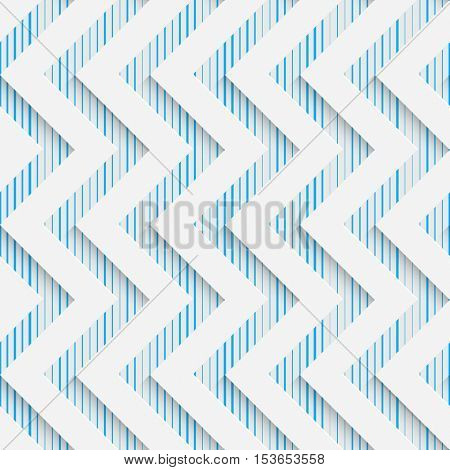 Seamless Zigzag Pattern. Abstract Shapes Background. Modern Geometric Wallpaper. White and Blue Decorative Design