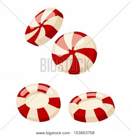 Lollipop sweet food vector illustration. Colorful lollipop isolated on white vector illustration.