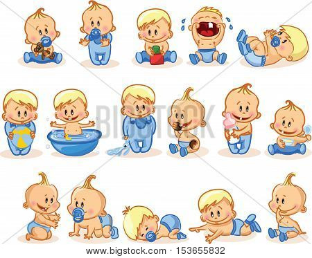 Vector illustration of baby boys,for your design