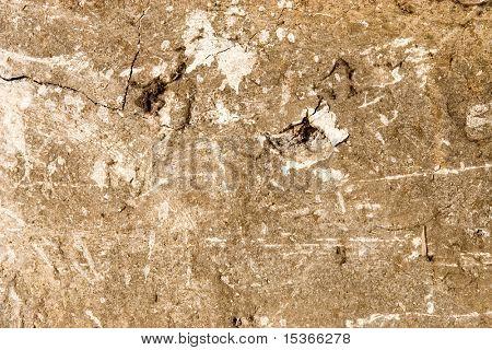 Zeer oude stervende betonnen muur.
