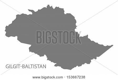Gilgit-Baltistan Pakistan Map grey vector high res
