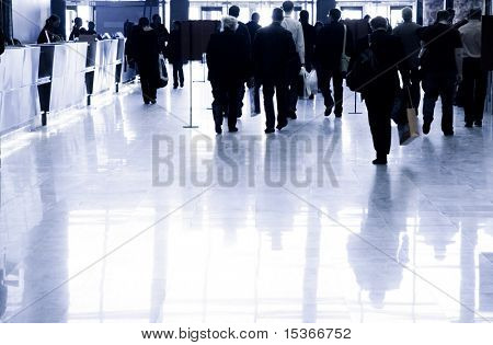 Business people walking. Specially with high contrast.