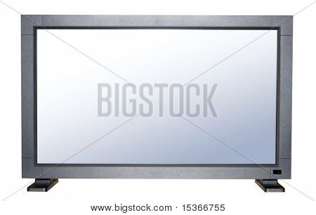 Modern flat TV with big screen.