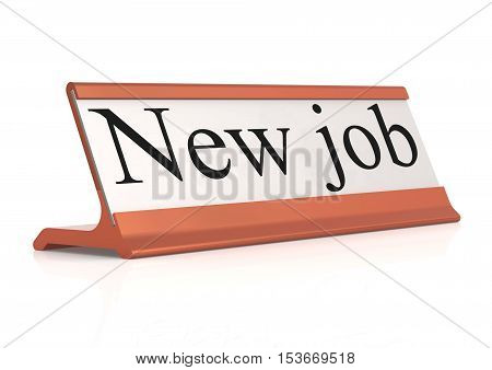New Job Table Tag Isolated