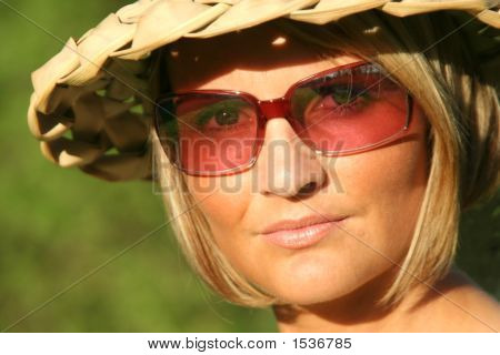 Summer Girl With Sun Glasses
