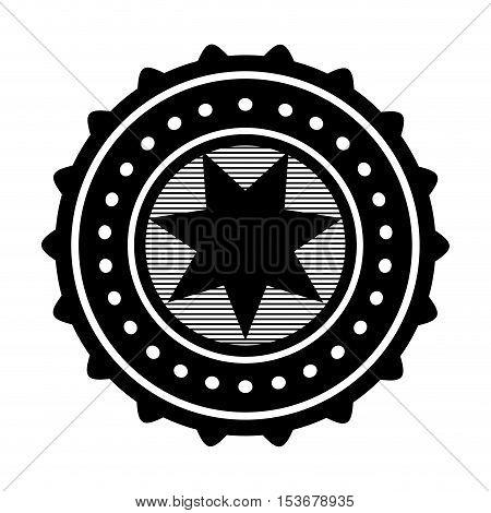 star emblem icon image vector illustration design