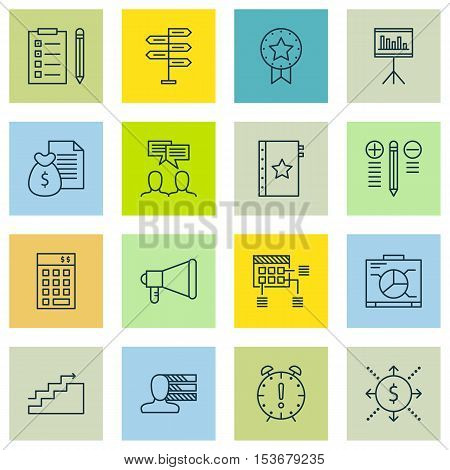 Set Of Project Management Icons On Time Management, Warranty And Schedule Topics. Editable Vector Il