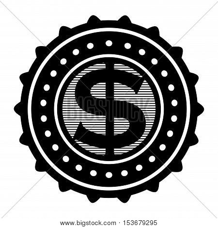 money emblem icon image vector illustration design