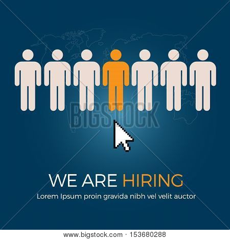 Select The Best Person From Group Of Human Icon For The Job Vacancy