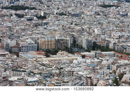 Aerial View Of Athens From Mount Lycabettus