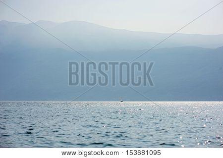 Sailing Boat At Garda Lake