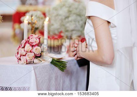 Bride During The Wedding Ceremony