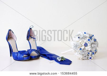 Wedding Accessories On A White Background