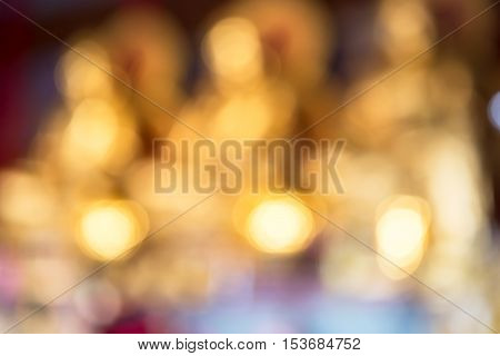 Light of beautiful golden bokhe for background material