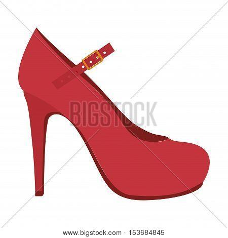 high heel mary jane style shoe icon image vector illustration design