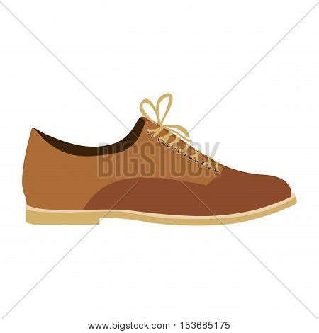 classic style lace shoe shoe icon image vector illustration design