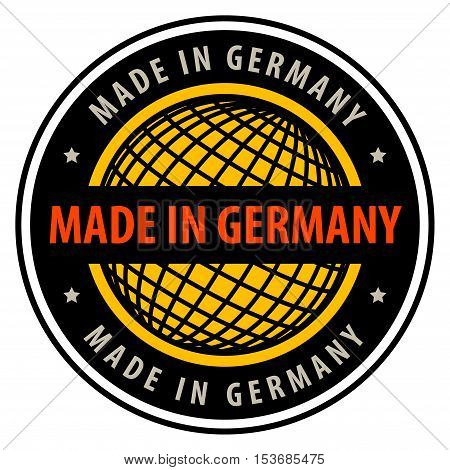 Made in Germany label or sign, vector illustration