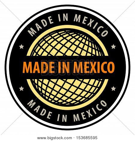Made in mexico label or sign, vector illustration