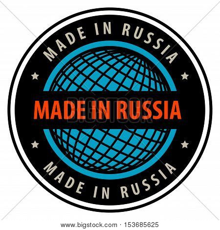 Made in Russia label or sign, vector illustration